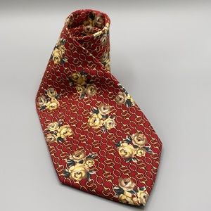 Gucci by Paolo Gucci patterned 100 % silk Men's Neck Tie Made in Italy